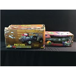 2 REPLICA MODELS, GENERAL GEORGE S. PATTON'S WW2 WC57 COMMAND CAR 1:6 SCALE AND WW2 ULTIMATE