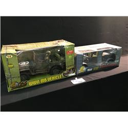 2 REPLICA MODELS, WW2 MB VEHICLE 1:6 SCALE AND KUBELWAGEN GERMAN MILITARY VEHICLE 1:6 SCALE