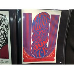 WAILERS/QUICKSILVER MESSENGER SERVICE POSTER - HAS THE WEST COAST LITHO CREDIT ON UNCOATED INDEX.