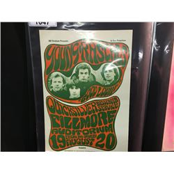 'GOOD LOVIN' POSTER - YOUNG RASCALS/QUICKSILVER MESSENGER SERVICE. 3RD PRINTING-NO UNION PRINT