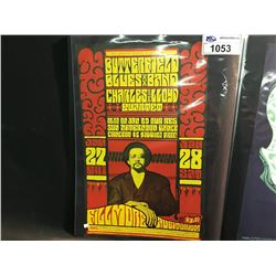 BUTTERFIELD BLUES BAND/CHARLES LLOYD QUARTET POSTER - THIS POSTER WAS PRINTED ONLY ONCE.