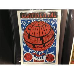 'RED RUBBER BALL'  CYRKLE/QUICKSILVER MESSENGER SERVICE @ CONTINENTAL BALLROOM POSTER-  S.F POSTER