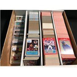 LARGE BOX OF ASSORTED BASEBALL AND BASKETBALL CARDS AND OTHERS