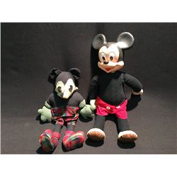 "1930'S MICKEY MOUSE DOLL 15"" TALL AND NEWER MICKEY MOUSE DOLL"