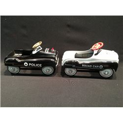 PAIR OF XONEX LIMITED EDITION COLLECTABLE VINTAGE POLICE CARS