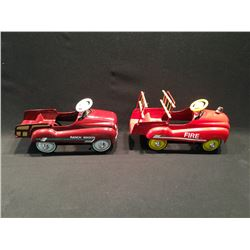 2 XONEX COLLECTABLE VEHICLES INC: FIRE TRUCK AND RANCH WAGON