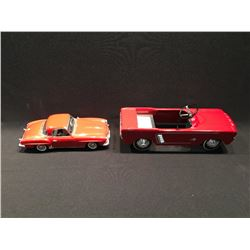2 METAL MODEL CAR REPLICAS INC: FORD MUSTANG CONVERTABLE AND MERCEDES 190SL