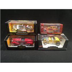 LOT OF 4 COLLECTABLE 'AMERICAN MUSCLE' REPLICA CARS INC: POSIES EXTREMELINER,