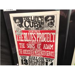 'LAUGH CURE' POSTER - BLUES PROJECT/SONS OF ADAM/QUICKSILVER. SAYS 8-3 CORRECTLY PRINTED ON