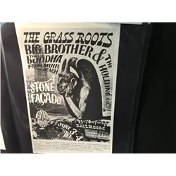 'STONE FACADE' POSTER - GRASS ROOTS/BIG BROTHER/BUDDHA. SAYS 11-2 CORRECTLY. 06/03/1966 ARTIST: