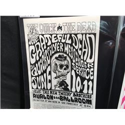 'QUICK AND THE DEAD' POSTER - GRATEFUL DEAD/QUICKSILVER MESSENGER SER. SAYS 12-2 CORRECTLY.