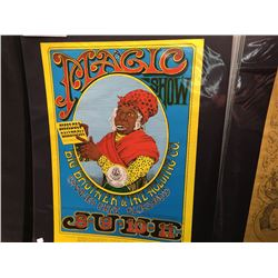 'AUNT JEMIMA' POSTER - BIG BROTHER/CANNED HEAT BLUES BAND. THE REPRINT HAS THE YELLOW BOARDER.