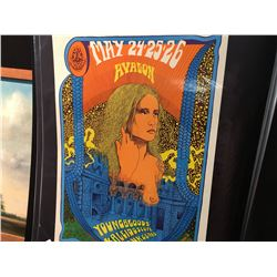 'LADY WITH SPAGHETTI HAIR'  POSTER - YOUNGBLOODS/KALEIDOSCOPE. THIS POSTER WAS ONLY PRINTED ONCE.