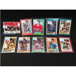 LOT OF 10 HOCKEY CARDS INC. MARIO LEMIEUX, BRETT HULL, DARRYL SITTLER, BOBBY ORR AND MORE