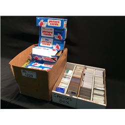 3 BOXES OF ASSORTED HOCKEY AND BASEBALL CARDS