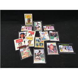LOT OF ASSORTED BASEBALL CARDS INC: HANK AARON, BABE RUTH, ERNIE BANKS, TED WILLIAMS AND MORE