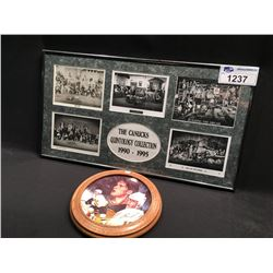 FRAMED CANUCKS QUINTOLOGY COLLECTION AND PAVEL BURE COLLECTOR PLATE