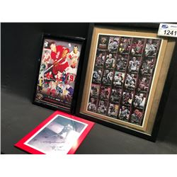 2 GORDIE HOWE SIGNED ITEMS AND VANCOUVER GIANTS SIGNED CARD BLOCK