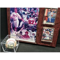 MARK MCGWIRE / SAMMY SOSA LIMITED EDITION COLLECTOR PLAQUE AND TEAM SIGNED BASEBALL
