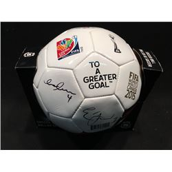 2015 FIFA WOMAN'S WORLD CUP SOCCER BALL, SIGNED BY MEMBERS OF TEAM CANADA