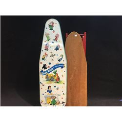 SNOW WHITE AND SEVEN DWARFS CHILD'S IRONING BOARD BY WOLVERINE TOYS, CIRCA 1950'S