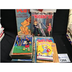 COLLECTION OF VINTAGE WALT DISNEY BOOKS: PLUTO, WIZARD OF OZ, PINNOCHIO, PLUS