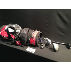 SET OF LEFT HANDED ;GOLF CLUBS INC. 7 CLUBS AND BAG