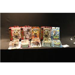 10 PEICES OF FANTASY FIGURES INCLUDING SPAWN & THE MUNSTERS