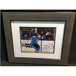 SIGNED AND FRAMED SIDNEY CROSBY PICTURE AT THE WINTER CLASSIC