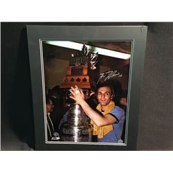 MATTED PHOTOGRAPH, SIGNED GUY LAFLEUR