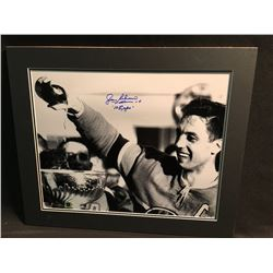 MATTED PHOTOGRAPH, SIGNED JEAN BELIVEAU