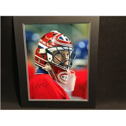 MATTED PHOTOGRAPH, SIGNED PATRICK ROY
