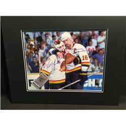 MATTED PHOTOGRAPH, SIGNED KIRK MACLEAN AND TREVOR LINDEN
