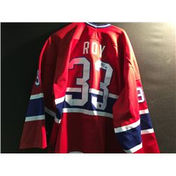 SIGNED MONTREAL CANADIENS PAT ROY JERSEY
