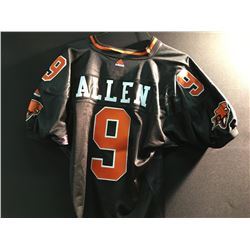 BC LIONS DAMON ALLEN SIGNED FOOTBALL JERSEY