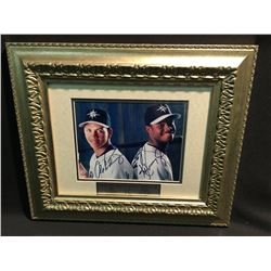 'SEATTLE MARINERS' ALEX RODRIGUEZ AND KEN GRIFFEY JR. DUAL SIGNED FRAMED PHOTO