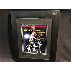 SIGNED FRAMED SPORTS ILLUSTRATED COVER BY DR. J.