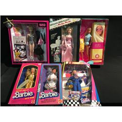 LOT OF 6 BARBIES IN THE BOX