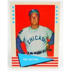 1961 FLEER RED RUFING #74  BASEBALL CARD