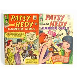 LOT OF 2 1966 PATSY AND HEDY CAREER GIRLS COMIC BOOKS - 12 CENT COVERS