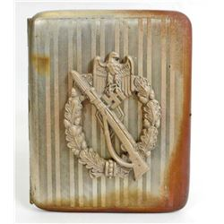 GERMAN NAZI ARMY INFANTRY OFFICERS CIGARETTE CASE