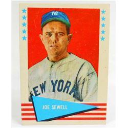 1961 FLEER JOE SEWELL #76  BASEBALL CARD