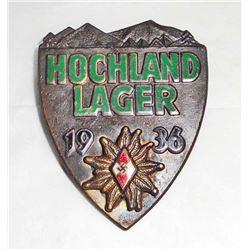 GERMAN NAZI HITLER YOUTH HJ HOCHLAND LAGER BADGE