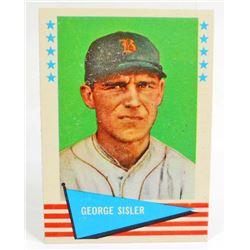 1961 FLEER GEORGE SISLER #78 BASEBALL CARD