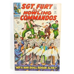 1966 SGT. FURY COMIC BOOK NO. 28 - 12 CENT COVER