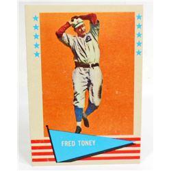 1961 FLEER FRED TONEY #80  BASEBALL CARD