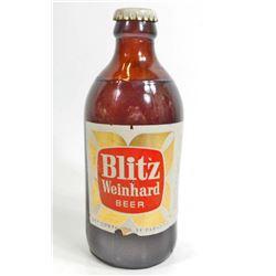 VINTAGE BLITZ WEINHARD ADVERTISING BEER BOTTLE - UNOPENED