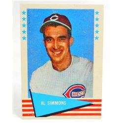 1961 FLEER AL SIMMONS #77  BASEBALL CARD