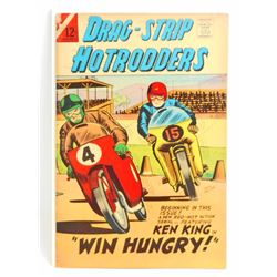 1966 DRAG STRIP HOTRODDERS NO 12 COMIC BOOK - 12 CENT COVER