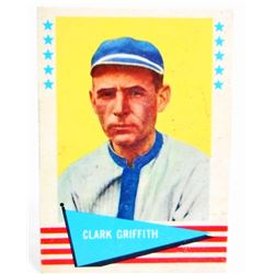 1961 FLEER CLARK GRIFFITH #36 BASEBALL CARD